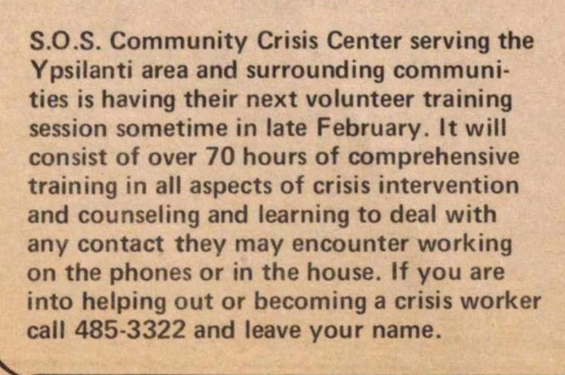 Sept 1973 Volunteering Ad