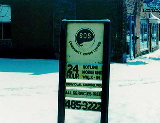 Historic image of SOS sign