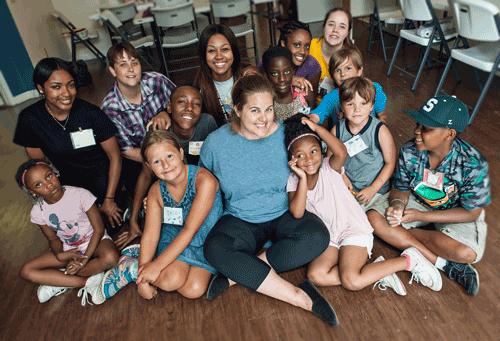 SOS children and staff